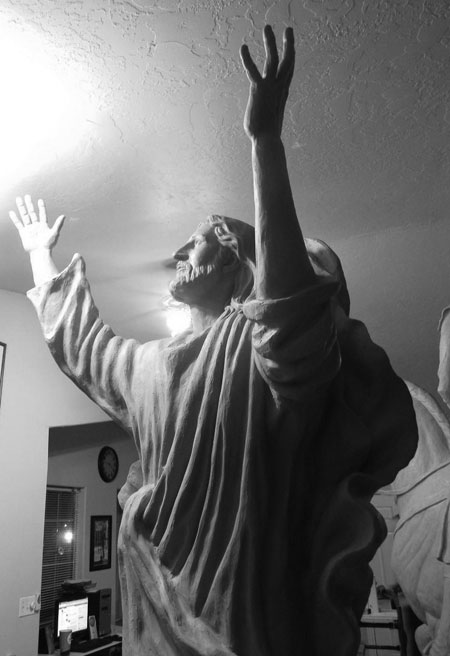Ascending Savior Christ Statue