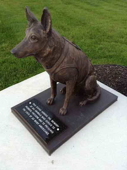 K9 Officer Police Military statue German Shepherd