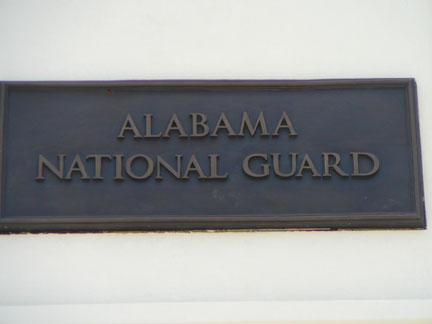 Alabama National Guard plaque