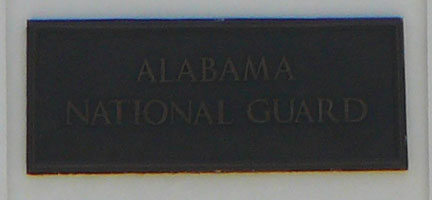 National Guard plaque