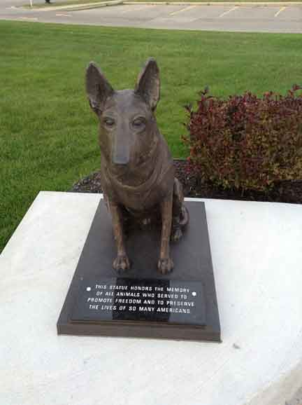 K9 Officer Police Military statue German Shepherd dog